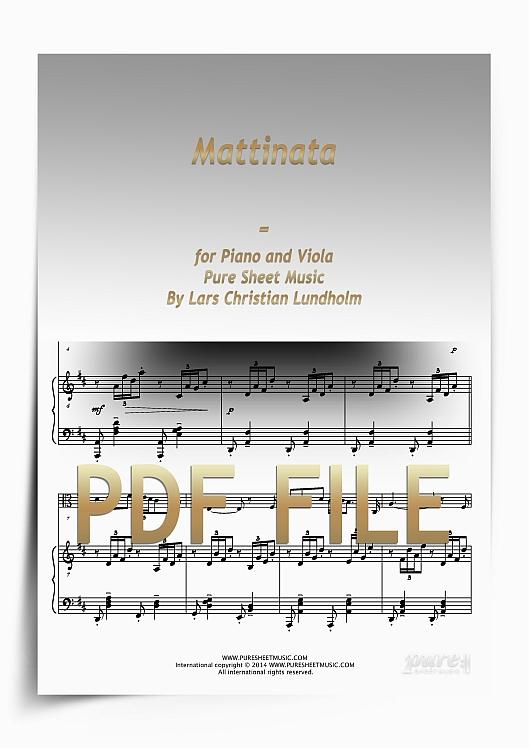 Thumbnail Mattinata for Piano and Viola (PDF file), Pure Sheet Music arranged by Lars Christian Lundholm