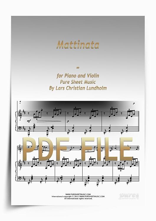 Thumbnail Mattinata for Piano and Violin (PDF file), Pure Sheet Music arranged by Lars Christian Lundholm
