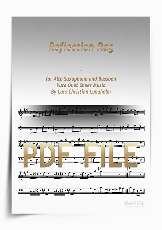 Thumbnail Reflection Rag for Alto Saxophone and Bassoon (PDF file), Pure Sheet Music arranged by Lars Christian Lundholm