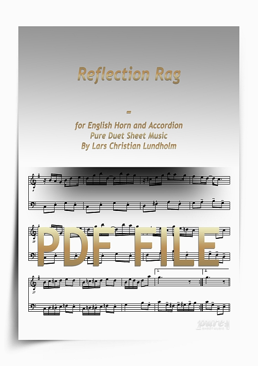 Thumbnail Reflection Rag for English Horn and Accordion (PDF file), Pure Sheet Music arranged by Lars Christian Lundholm