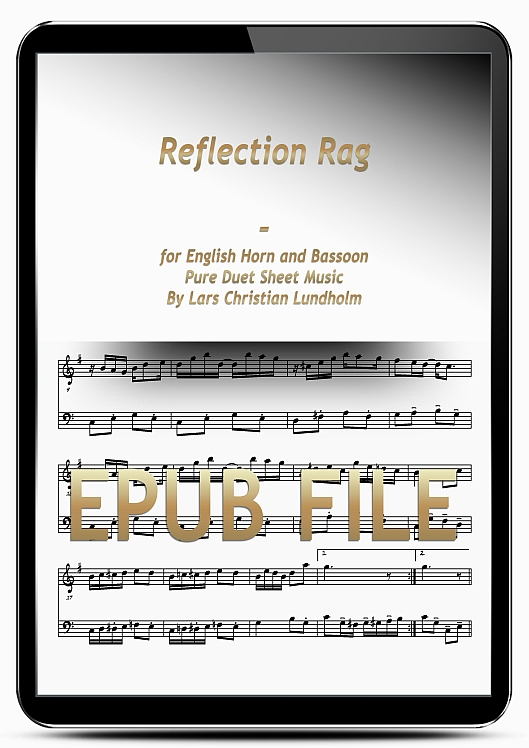 Thumbnail Reflection Rag for English Horn and Bassoon (EPUB file), Pure Sheet Music as Ebook arranged by Lars Christian Lundholm
