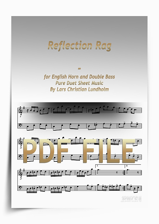 Thumbnail Reflection Rag for English Horn and Double Bass (PDF file), Pure Sheet Music arranged by Lars Christian Lundholm