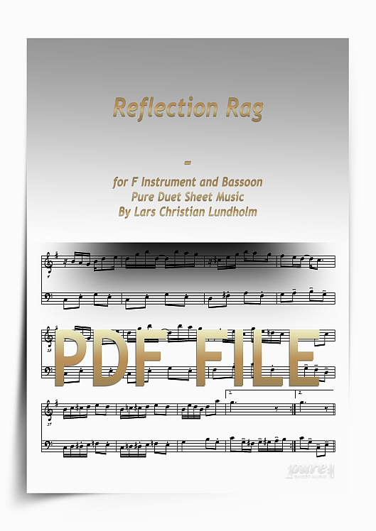 Thumbnail Reflection Rag for F Instrument and Bassoon (PDF file), Pure Sheet Music arranged by Lars Christian Lundholm