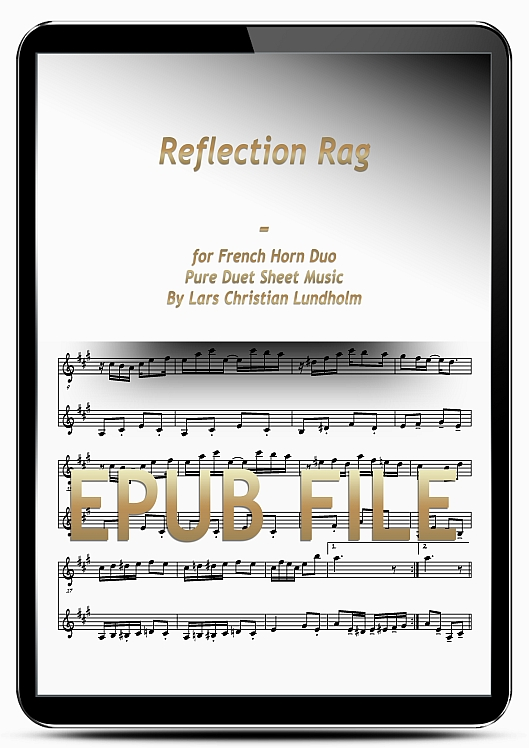 Thumbnail Reflection Rag for French Horn Duo (EPUB file), Pure Sheet Music as Ebook arranged by Lars Christian Lundholm
