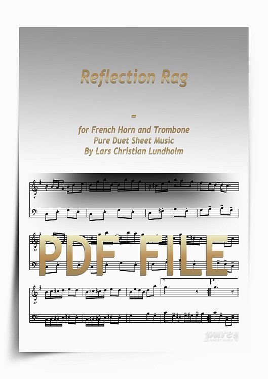 Thumbnail Reflection Rag for French Horn and Trombone (PDF file), Pure Sheet Music arranged by Lars Christian Lundholm