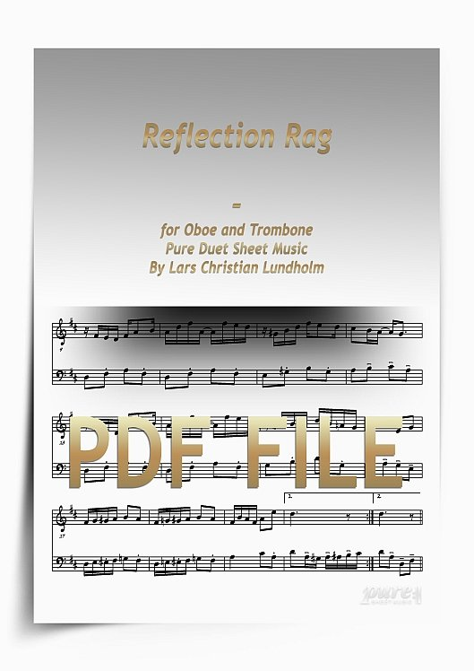 Thumbnail Reflection Rag for Oboe and Trombone (PDF file), Pure Sheet Music arranged by Lars Christian Lundholm