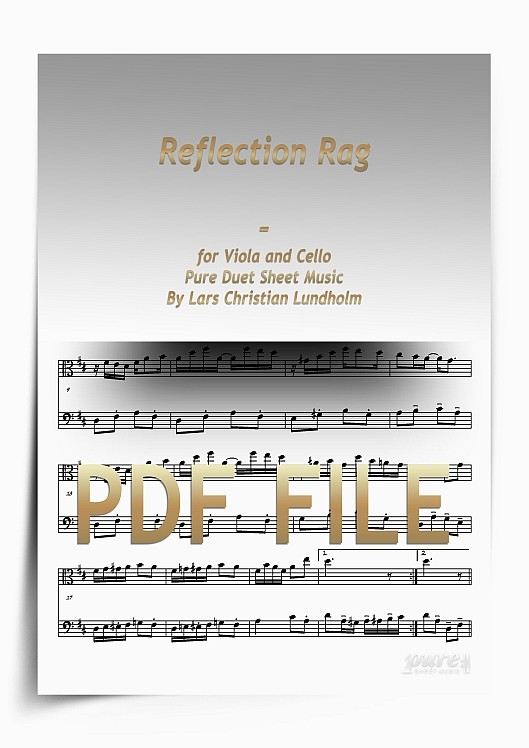 Thumbnail Reflection Rag for Viola and Cello (PDF file), Pure Sheet Music arranged by Lars Christian Lundholm
