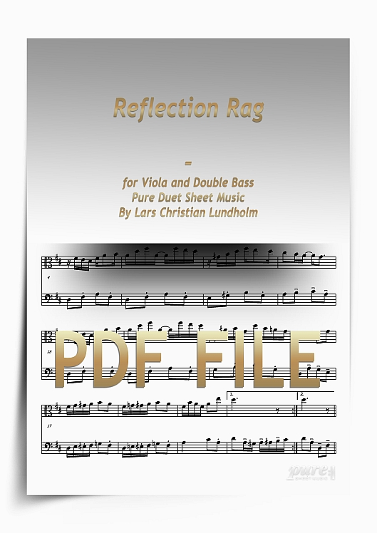 Thumbnail Reflection Rag for Viola and Double Bass (PDF file), Pure Sheet Music arranged by Lars Christian Lundholm