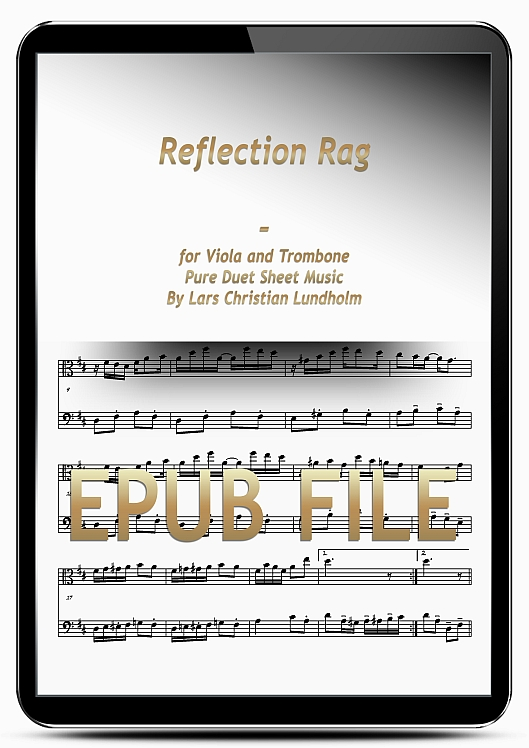 Thumbnail Reflection Rag for Viola and Trombone (EPUB file), Pure Sheet Music as Ebook arranged by Lars Christian Lundholm