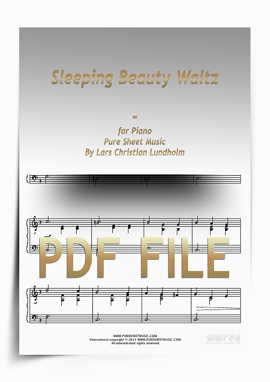 Thumbnail Sleeping Beauty Waltz for Piano (PDF file), Pure Sheet Music arranged by Lars Christian Lundholm