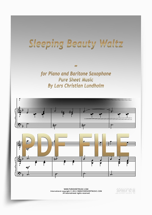 Thumbnail Sleeping Beauty Waltz for Piano and Baritone Saxophone (PDF file), Pure Sheet Music arranged by Lars Christian Lundholm