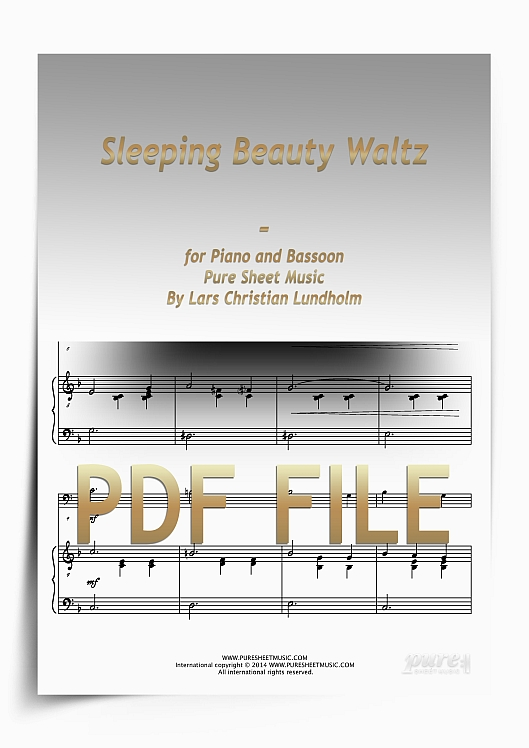 Thumbnail Sleeping Beauty Waltz for Piano and Bassoon (PDF file), Pure Sheet Music arranged by Lars Christian Lundholm