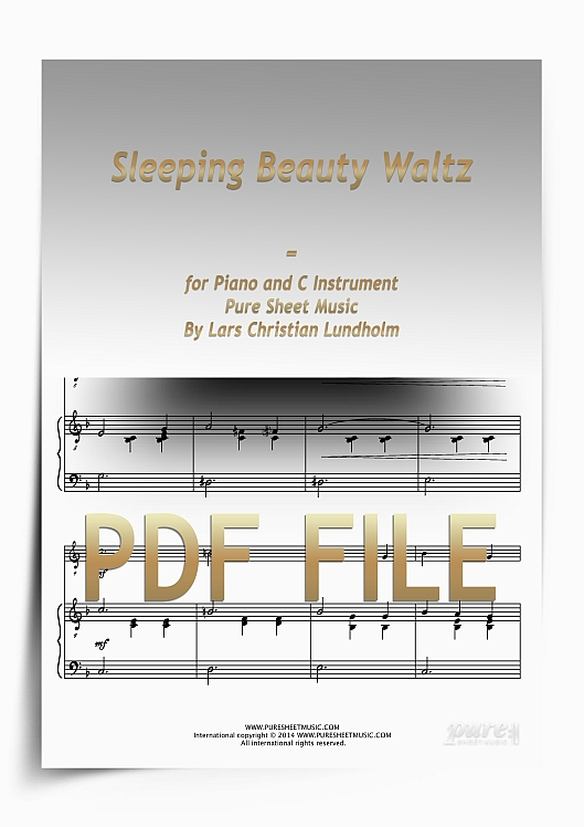 Thumbnail Sleeping Beauty Waltz for Piano and C Instrument (PDF file), Pure Sheet Music arranged by Lars Christian Lundholm