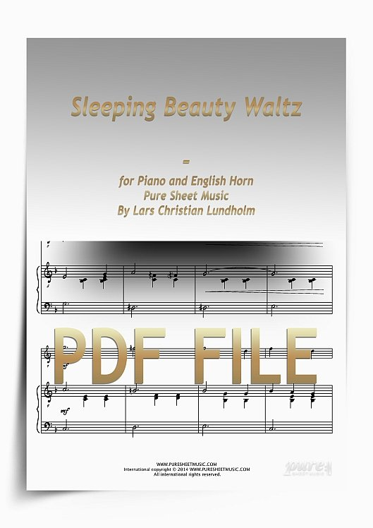Thumbnail Sleeping Beauty Waltz for Piano and English Horn (PDF file), Pure Sheet Music arranged by Lars Christian Lundholm