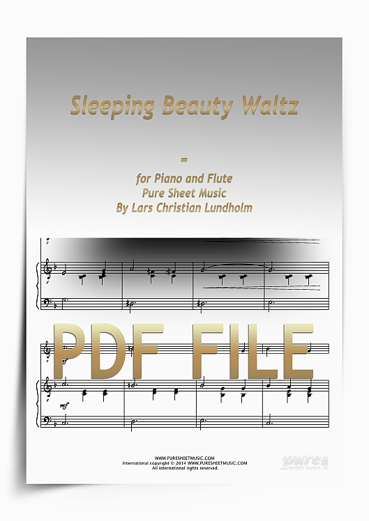 Thumbnail Sleeping Beauty Waltz for Piano and Flute (PDF file), Pure Sheet Music arranged by Lars Christian Lundholm