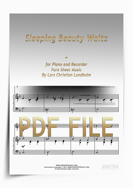 Thumbnail Sleeping Beauty Waltz for Piano and Recorder (PDF file), Pure Sheet Music arranged by Lars Christian Lundholm