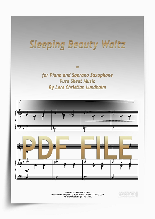 Thumbnail Sleeping Beauty Waltz for Piano and Soprano Saxophone (PDF file), Pure Sheet Music arranged by Lars Christian Lundholm