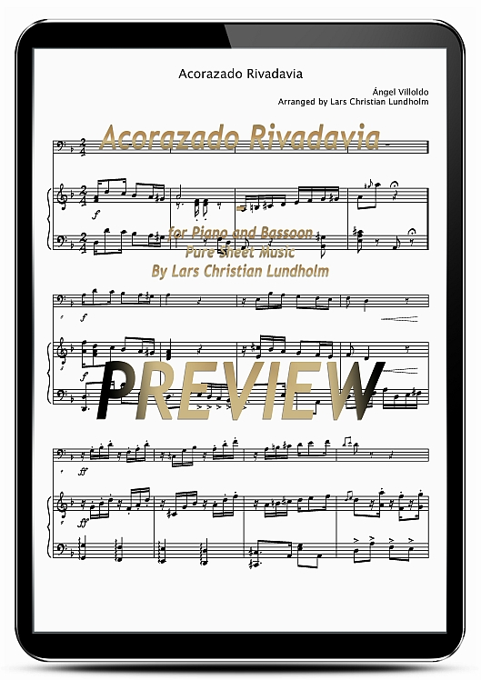 Pay for Acorazado Rivadavia for Piano and Bassoon (EPUB file), Pure Sheet Music as Ebook arranged by Lars Christian Lundholm