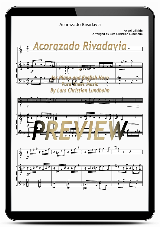Pay for Acorazado Rivadavia for Piano and English Horn (EPUB file), Pure Sheet Music as Ebook arranged by Lars Christian Lundholm