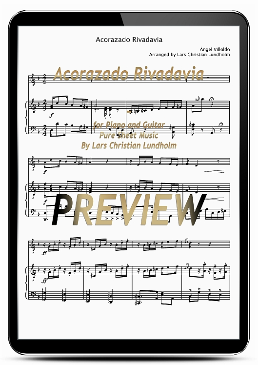 Pay for Acorazado Rivadavia for Piano and Guitar (EPUB file), Pure Sheet Music as Ebook arranged by Lars Christian Lundholm