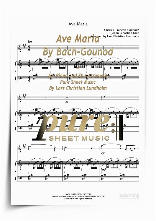 ave maria piano sheet music pdf