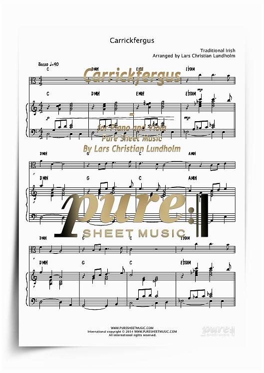 Carrickfergus For Piano And Viola Pdf File Pure Sheet Music Arra