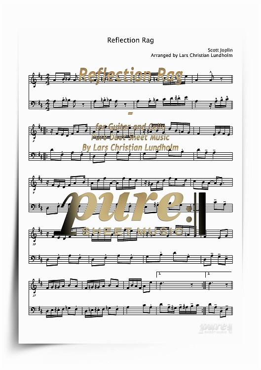 Pay for Reflection Rag for Guitar and Cello (PDF file), Pure Sheet Music arranged by Lars Christian Lundholm