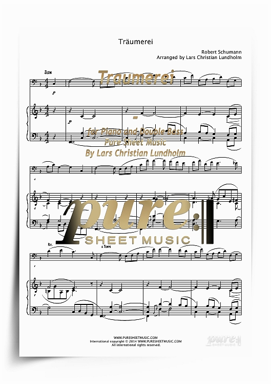 Pay for Traumerei for Piano and Double Bass (PDF file), Pure Sheet Music arranged by Lars Christian Lundholm
