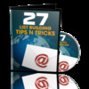 Thumbnail 27 List Building Tips and Tricks Plr