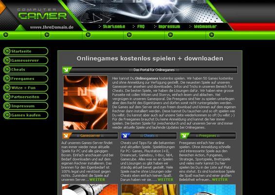 Pay for Free Gamesite Template inkl. Flash Spielen / Web Projekt