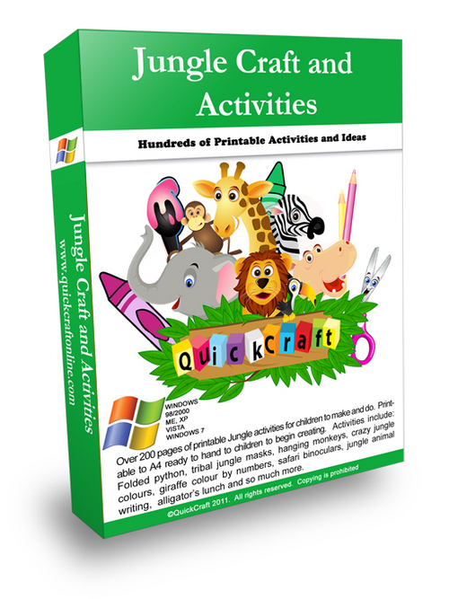 Pay for Kids Craft Jungle Printable Activities