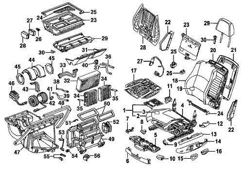 Mercedes Ml320 Ml430 Ml55 1998-2001 Parts Manual
