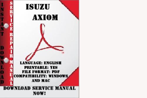 isuzu axiom manual download