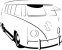 Thumbnail VW Splitty vector