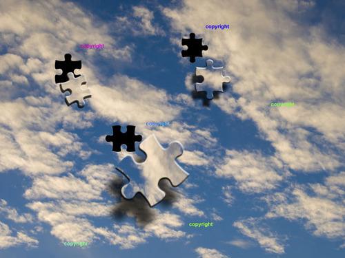 Pay for Jigsaw Sky - blue