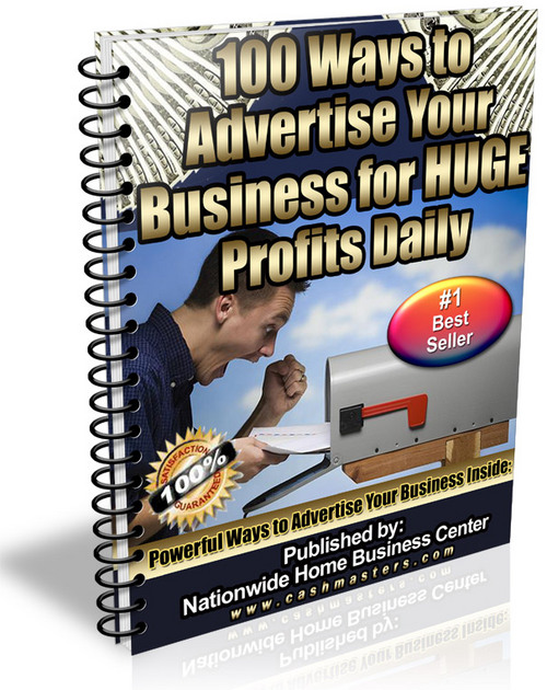 Pay for 100 Ways To Advertise Your Business For Huge Profits Daily