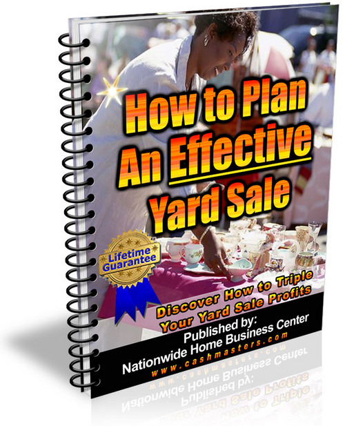 Pay for How To Plan An Effective Yard Sale