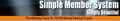 Thumbnail Simple Member System MRR.zip