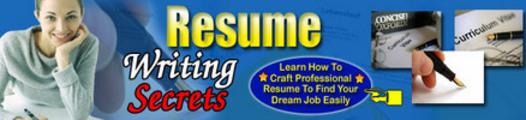 Thumbnail New Resume Writing Secrets plr