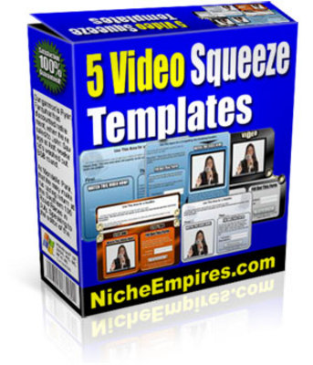 Pay for 5 New Video Squeeze Templates plr