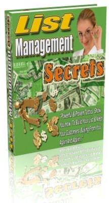 Pay for list management  secrets MRR