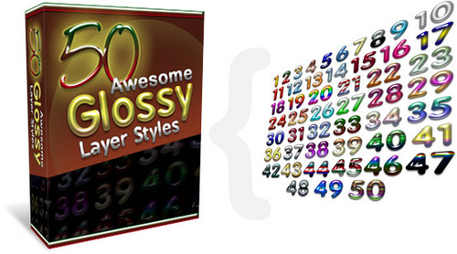 Pay for 50 Awesome Glossy Layer Styles.rar