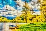 Thumbnail The boat - Style Claude Monet