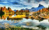 Thumbnail Dolomites - Style Claude Monet