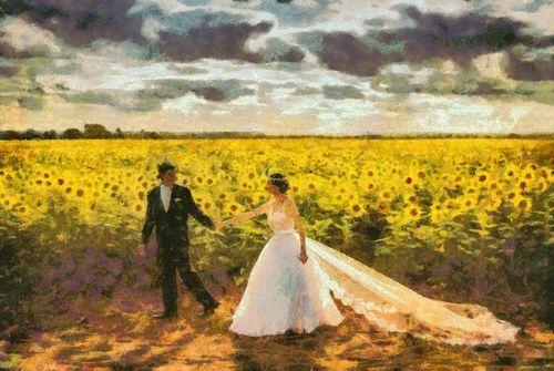 Pay for Newlyweds - Style Claude Monet