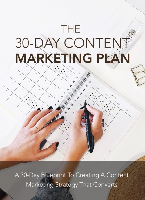 Pay for 30 Days Content Marketing Plan