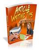 Thumbnail *HOT!* Article Writing Tips