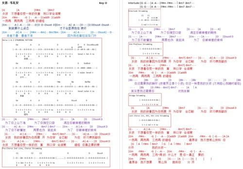 Pay for Nu Hai - Wei Li An Chordsheet (女孩 - 韦礼安 吉他谱)