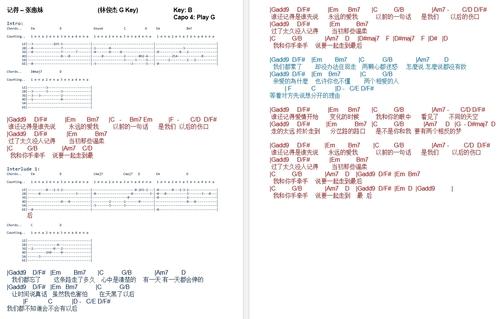 Pay for Ji De - Zhang Hui Mei Chordsheet 记得 - 张惠妹 吉他谱