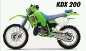 Thumbnail KAWASAKI KDX200 KDX 200 1989-1994 WORKSHOP SERVICE MANUAL